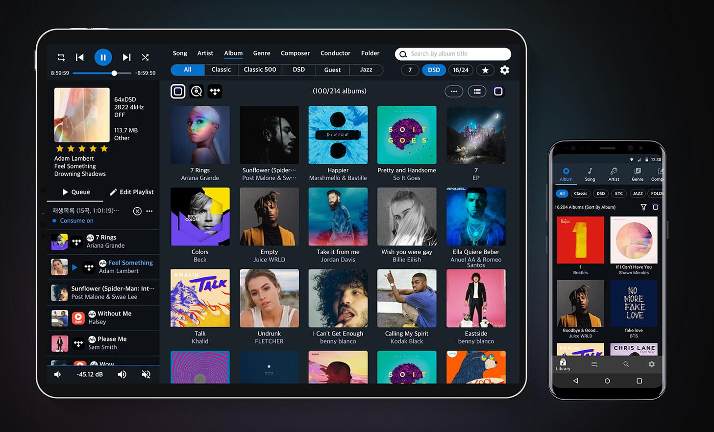 Aurender applicatie voor zowel Apple IOS als Google Android