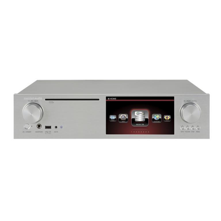 De Cocktail Audio X35 is zowel een versterker, cd-speler, streamer, NAS/opslag en cd-ripper in één