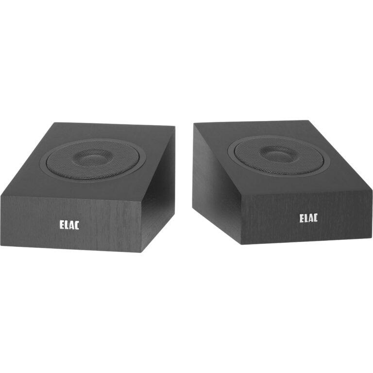 Elac Debut 2.0 A4.2 Dolby Atmos Hans Audio 3 Elac wandspeakers nu ook in het zwart leverbaar!