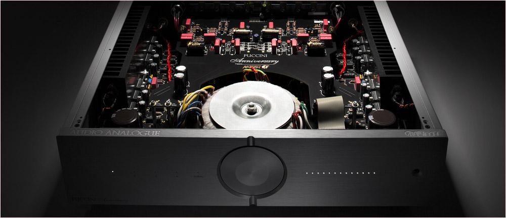 Audio Analogue apparatuur handgebouwd in Italië