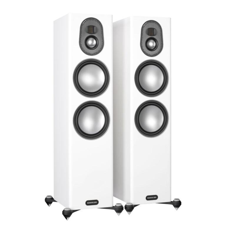De nieuwe Monitor Audio Gold 300 5G in de kleur slijplak wit