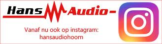 Hans Audio vanaf nu ook op Instagram