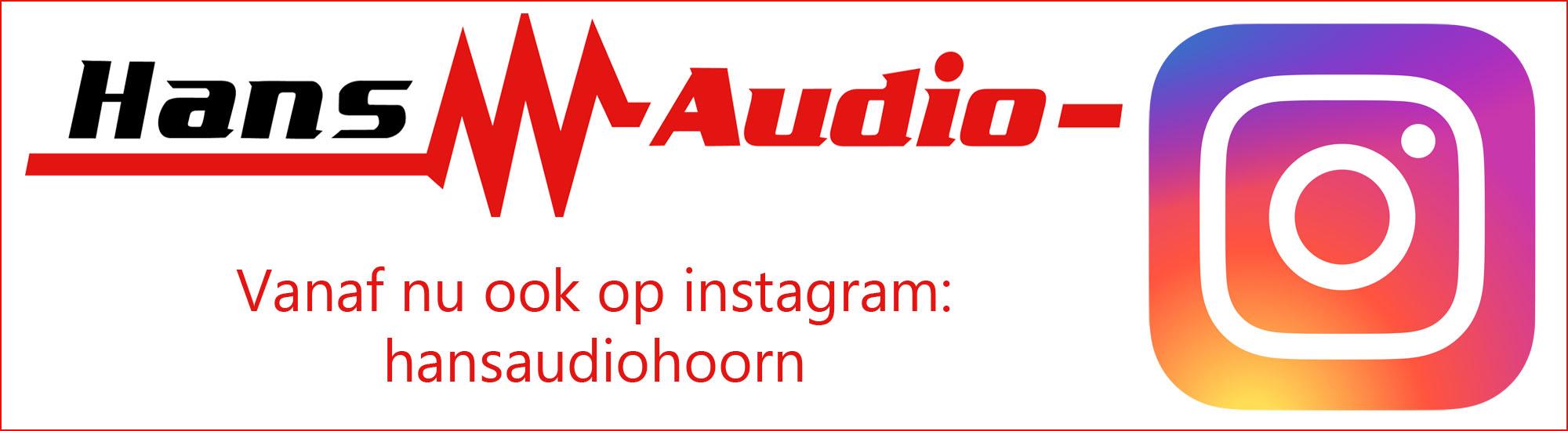 Instagram Hans Audio vanaf nu ook op Instagram