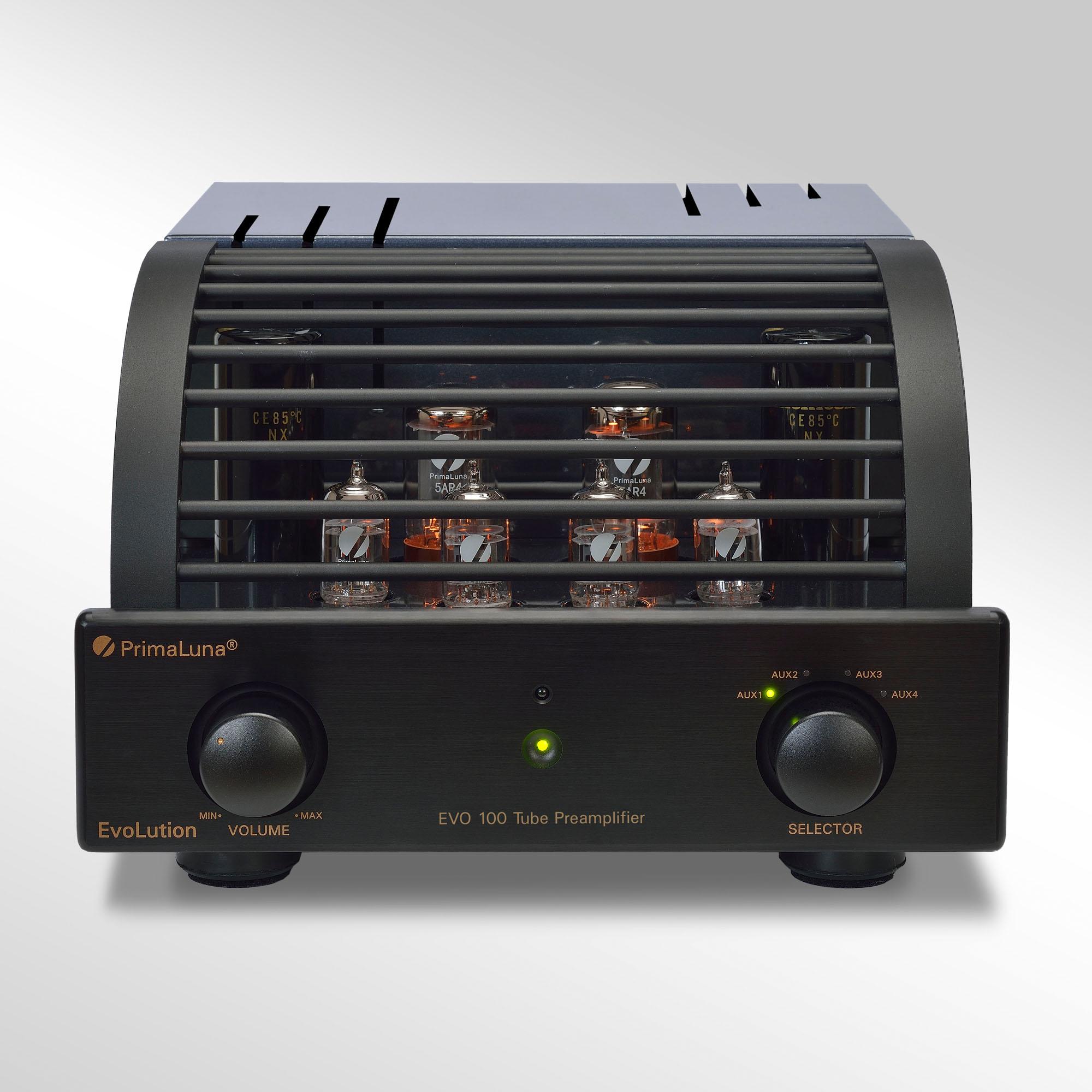De PrimaLuna Evo 100 voorversterker is de eerste voorversterker van PrimaLuna uit de Evolution 100 serie