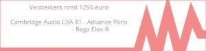 Versterkers rond de 1250 euro